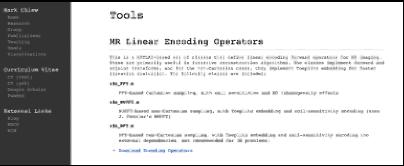 MR Linear Encoding Operators